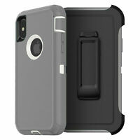 for iPhone X s/ iPhone 10- Holster Swivel Belt Clip Hard Slim Case Cover Black