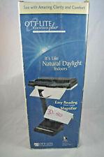 OTT-LITE VisionSaver Plus Easy Reader Lamp with Magnifier Desk Lamp NEEDS BULB
