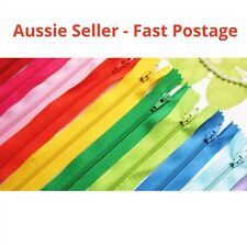 10x ASSORTED DIY ZIPPER CRAFT NYLON METAL CLOSED OPEN ENDED BRAND NEW