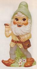 Ceramic Bisque Large Garden Gnome w Pick U-Paint Ready to Paint Alberta
