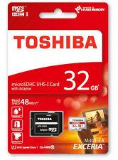 Memory card Toshiba per cellulari e palmari con 32 GB di archiviazione
