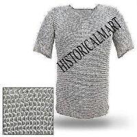 Aluminum round Riveted Chainmail shirt medium size HALF SLEEVE 9 MM HUBERGION