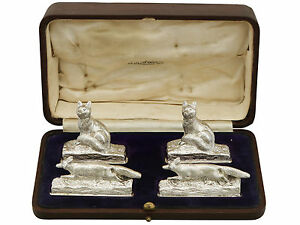 1920's Set of Four Sterling Silver Menu / Card Holders by Garrard & Co Ltd 255g