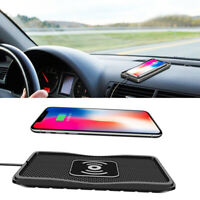 Fast Car Dash Wireless Smart Phone Charger Dock Pad for Samsung S10 iPhone XS XR