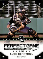 """LUKE BERRYHILL 2015 LEAF """"1ST EVER PRINTED"""" PERFECT GAME ROOKIE CARD!"""