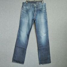 G-Star 3301 Victor Straight Leg Men's Jeans 34 X 33.5 Distressed Wash Button Fly