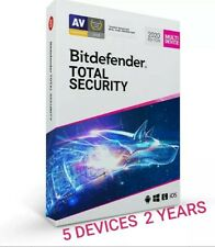 BITDEFENDER TOTAL SECURITY 2020 - 5 DEVICES - 2 YEARS - INCLUDES VPN - DOWNLOAD
