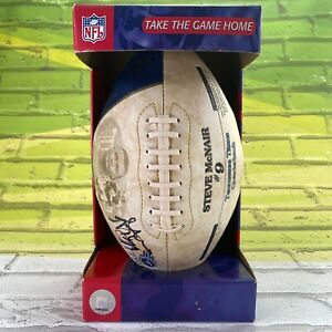 Steve McNair Limited Edition Autographed Football Year 2000 Stats  No COA