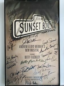 SUNSET BOULEVARD, Broadway Musical Window Card, Signed By Cast, Betty Buckley