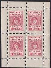 Yugoslavia Svetaklara Munic Revenue Barefoot #3 MNH 100k minisheet/4 1945 cv $22