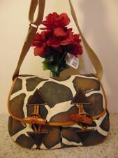 Dooney & Bourke Fabric Animal Print Large Toggle Bag Messenger # AL931 JT