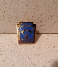 Vintage Little League Softball District Collectible Pin Blue and Gold Lapel