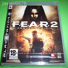 FEAR 2 PROJECT ORIGIN PAL ESPAÑA NUEVO Y PRECINTADO PLAYSTATION 3
