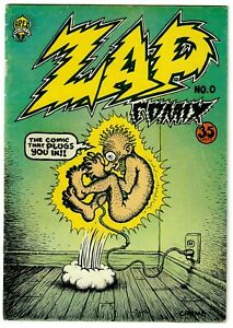 Zap Comix (1967) #0 4th Print Signed By Robert Crumb No COA Underground VG+