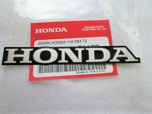 HONDA MARK 110mm SILVER + BLACK DECAL STICKER LOGO BADGE *100% GENUINE ORIGINAL*