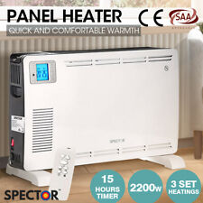 Spector 2200W Metal Portable Electric Panel Heater Convection Panel Timer White