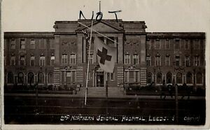 WW1 Panoramic view of the entrance to the 2nd Northern General Hospital Leeds