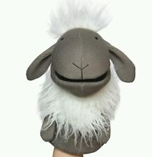 NEW Manhattan Toy Knit Hand Puppet - Meadow The Sheep Gray Daycare School Toy