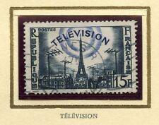 STAMP / TIMBRE FRANCE OBLITERE N° 1022 LA TELEVISION