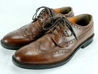 Vintage STAFFORD USA Men's Wingtip Oxfords Full Brown Leather Shoes Size 10.5