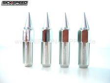 SILBER SICKSPEED Lug Nuts 60/90mm spiked M12x1.5 Radmuttern 4er