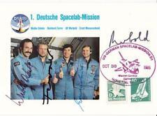 More details for 1985 spacelab us-german joint mission d1 - quadruple signed card