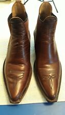 DINGO ANKLE BOOTS POINTED TOE MEN'S 9.5 M BROWN CHELSEA