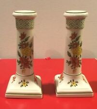 """Villeroy & Boch, Summerday Collection - 1 Pair, Porcelain Candlestick Holders 7"""""""
