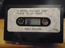 RARE PROMO Merle Haggard DEMO CASSETTE TAPE country 2 from 5:01 Blues LAS VEGAS