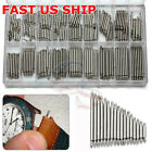 360pcs Watch PINS SPRING BARS Band Strap Link 8-25mm Repair Kit Stainless Steel