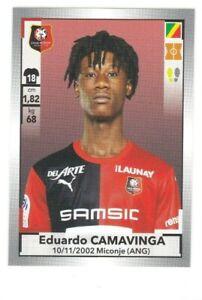 2019-20 Panini Foot Ligue 1 - #424 EDUARDO CAMAVINGA Rookie Sticker Stade France