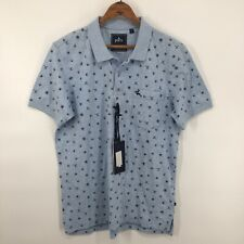 Parx Casual Collection Mens Light Blue Heathered Polo Shirt Size Small NWT
