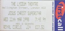 JESUS CHRIST SUPERSTAR 1998 LYCEUM THEATRE TICKET STUB