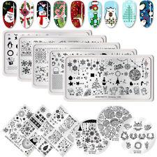 Placas  Estampado  Uñas Arte  Uñas Plantillas Nail Stamping Plates Navidad