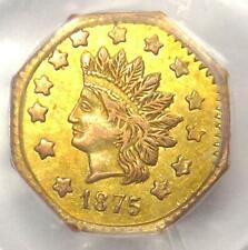 1875 Indian California Gold Dollar Coin G$1 BG-1127 - PCGS AU55 - $750 Value!