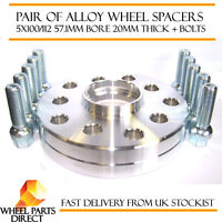 VW Volkswagen Audi Alloy Wheel Spacers Spacer Kit 5x100/112 57.1 20mm + OE Bolts