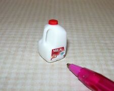 Miniature Cindi's Plastic Milk Carton, 1 Gallon w/LABEL: DOLLHOUSE 1/12