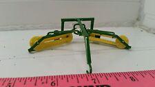 1/64 ertl custom farm toy John deere Green yellow double bar rake scratch built