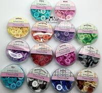 Lot assortiment de 60 boutons en résine scrapbooking couture 12mm AU CHOIX DIY
