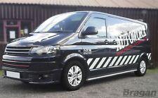 To Fit 04-15 Volkswagen Transporter T5 Caravelle LWB Stainless Steel Side Bars