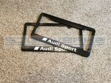 Audi Sport Audi License Plate Frame RS3 TTRS R8 A4 S4 TT S5 Q5 SQ5 Q7 - Pair