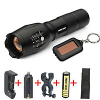 5000LM Zoomable CREE XML T6 LED 5 Modes G700 X800 Tactical Flashlight Torch Lot