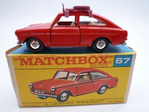 VINTAGE MATCHBOX LESNEY No.67b VOLKSWAGEN TYPE 3 FASTBACK IN ORIGINAL BOX 1967