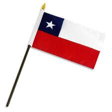 """Chile 4""""x6"""" Flag Desk Table Stick"""