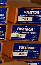 """FNA-4 Amp BUSS Pin Indicating Fuses 13/32""""x1-1/2"""" Bussmann NEW Lot of 2 125Vac"""