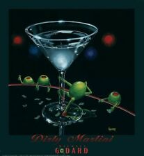"Michael Godard ""DIRTY MARTINI"" Olive-Dancers-Strippers-Las Vegas-Club-Poster"