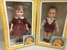 NIB Vintage 1982 Effanbee Vinyl Doll Set THE BOBBSEY TWINS Flossie & Freddie