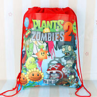 Kids Boys Girl Drawstring Gym Toy Swimming Beach PE School Party Book Bag +Charm