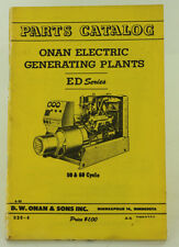 Vintage ONAN ED Series Electric Generator Parts Catalog