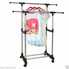 SUPER- DOUBLE POLE TELESCOPIC CLOTH DRYING STAND RACK- EXTD